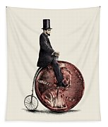 Penny Farthing Tapestry by Eric Fan