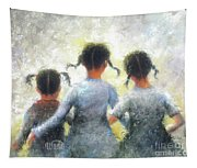 Pigtails Three Sisters Tapestry