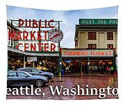 Pikes Place Public Market Center Seattle Washington Tapestry