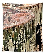 Pilings In Abstract Tapestry