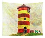 Pilsum Lighthouse Leuchtturm  Tapestry