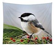 Pine Chickadee Tapestry