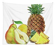 Pineapple Pear Watercolor Food Illustration  Tapestry