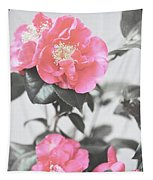 Pink Camellia. Shabby Chic Collection Tapestry