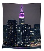 Pink Empire State Building Tapestry