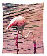 Pink Flamingo Two Tapestry