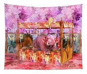 Pink Laughing Elephant Tapestry
