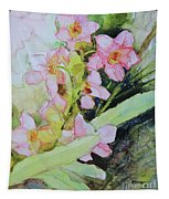 Pink Moth Orchids II Tapestry