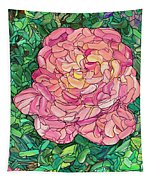 Pink Rose Tapestry by James W Johnson