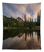 Pinnacle Peak Sunset Reflection Angles Tapestry