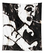 Pipe After Mikhail Larionov Black Oil Painting 4 Tapestry
