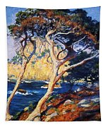 Point Lobos Trees 1919 Tapestry