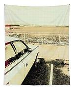 Pop Art Beach Carpark  Tapestry