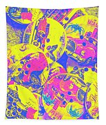 Pop Art Garage  Tapestry