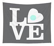 Pop Art Love In Gray Tapestry