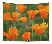 Poppies In The Breeze Tapestry