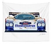 Porsche 962 Al Holbert Racing Tapestry