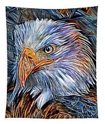Portrait Of A Watchful Eye Tapestry