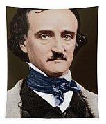 Portrait Of Edgar Allan Poe, Circa 1849 Tapestry