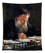 Portrait Of Leo Tolstoy Tapestry