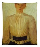 Portrait Of Maria Tolstaya Leo Tolstoy Daughter Tapestry