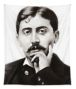 Portrait Of The French Author Marcel Proust Tapestry