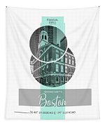 Poster Art Boston Faneuil Hall - Turquoise Tapestry