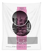 Poster Art Boston Waterfront - Pink Tapestry