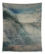 Power Of Water In Motion - Post Falls Tapestry by Matthew Nelson