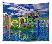 Precious E Is For Elephant Tapestry