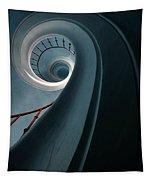 Pretty Blue Spiral Staircase Tapestry