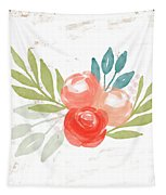 Pretty Coral Roses - Art By Linda Woods Tapestry