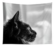 Profile Of A Long Haired Cat In Window Tapestry