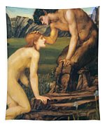 Psyche And Pan 1874 Tapestry