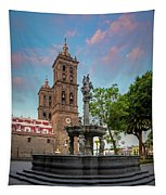 Puebla Zocalo And Cathedral Tapestry