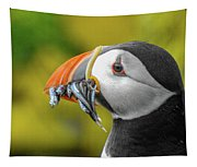 Puffin With A Mouthful Tapestry