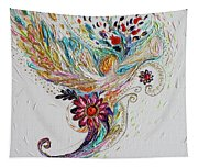 Pure Abstract #4. Trumpeting Angel Tapestry