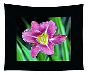 Purple And Yellow Flower Tapestry