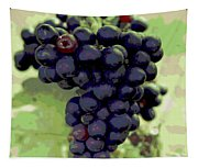 Purple Grape Bunches 19 Tapestry