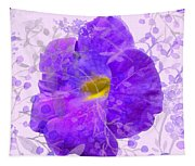 Purple Morning Glory With Pattern Tapestry
