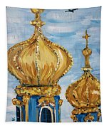 Pushkin Palace Towers Tapestry by Maria Langgle