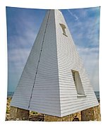 Pyramid Bell Tower Maine Tapestry