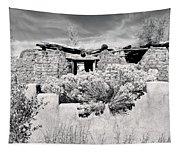 Rabbitbrush And Adobe Ruins In Sepia Tapestry