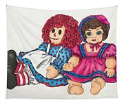 Raggedy Ann And Friend  Tapestry