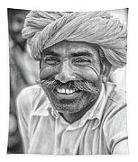 Rajput High School Teacher Bw Tapestry