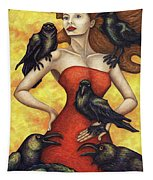 Raven's Council Tapestry by Amy E Fraser