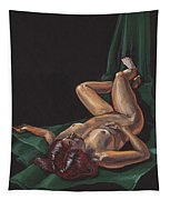Reclining Nude Model Foreshortening Study Tapestry
