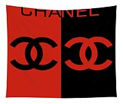 Red And Black Chanel Tapestry