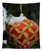Red And Gold Ornament Tapestry