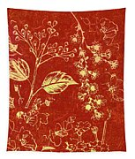 Red Blossoms Tapestry
